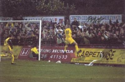 Darby Celebrates goal away at Kettering